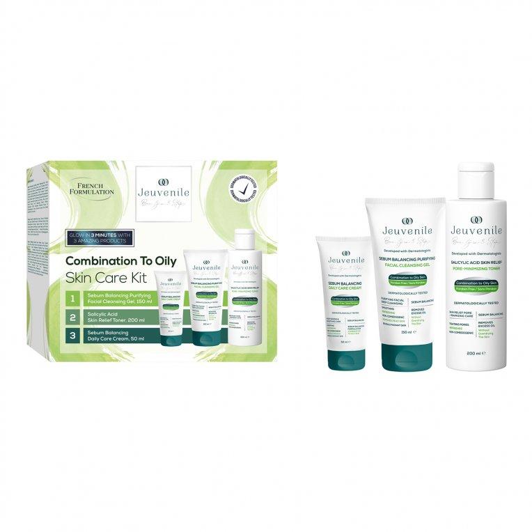 Combination To Oily Skin Type Anti-Acne & Anti-Blackhead Skin Care Set (150ML + 200ML + 50ML)