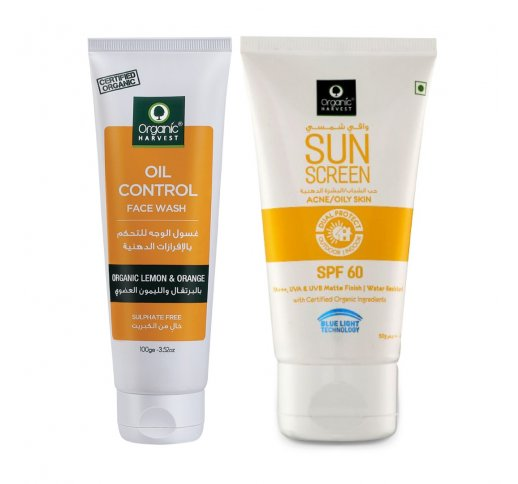 Oil Control Face Wash And Sunscreen Spf 60 for Oily And Acne Skin Care Sets